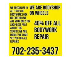 Mobile auto body repair