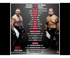 UFC 200 Sat. Jul. 9, 2016 Lesnar vs Hunt